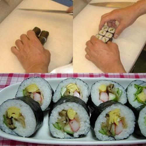 com cuon sushi1 Các bước làm món Cơm cuộn sushi chay